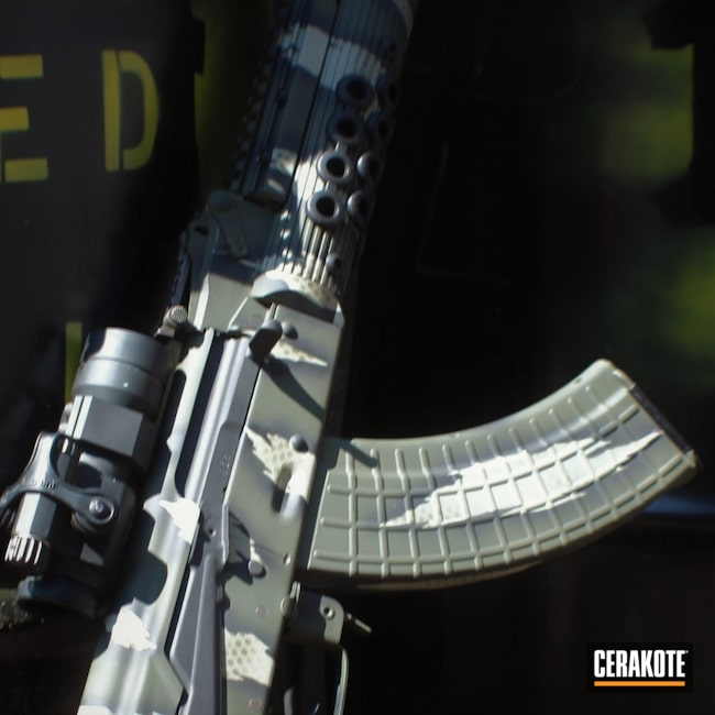 Cerakoted: S.H.O.T,Century,Armor Black H-190,Tactical Rifle,O.D. Green H-236,Firearms,Gun Coatings,Gen II Desert Sage HIR-247,Combat Grey H-130,AK Rifle,AK