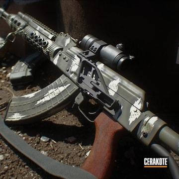 Cerakoted Ak Rifle Camo