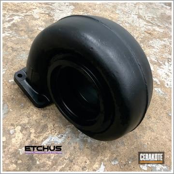 Cerakoted Black Chevy Camaro Intake And Headers