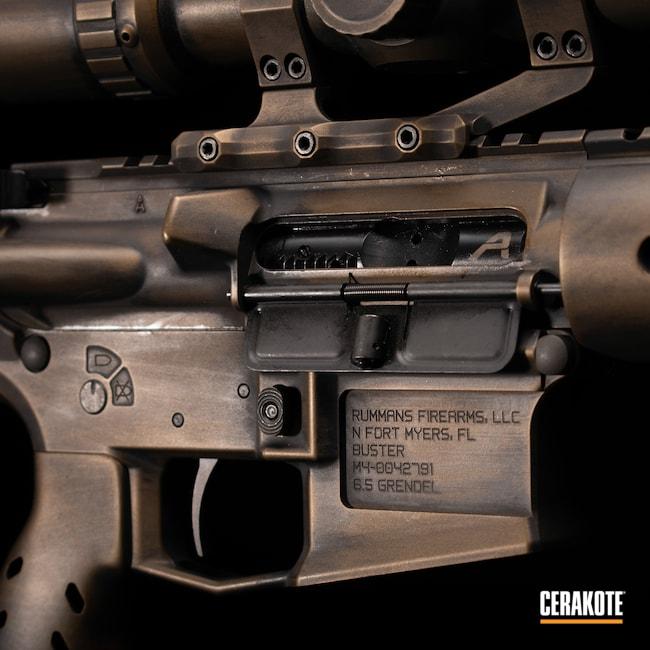 Cerakoted: Rifle,m4e1,Tactical Rifle,6.5 Grendel,Firearms,SHOT,Aero Precision,Hunting,Oil Rubbed Bronze,Graphite Black H-146,AR,Burnt Bronze H-148,Gun Coatings