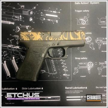Cerakoted Glock 43x Scroll Pattern