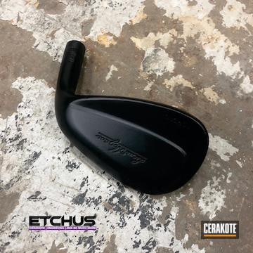 Cerakoted Black Refinished Golf Club