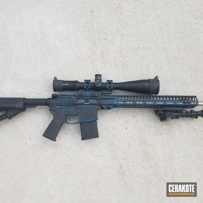 Cerakoted: SHOT,Graphite Black H-146,AR,Tactical Rifle,Firearms,5.56,Sky Blue H-169,AR-15,fortiusarms