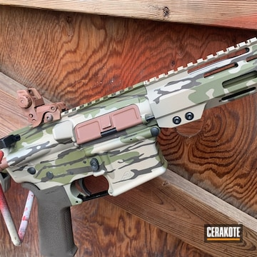 Cerakoted Blended Camo Pattern