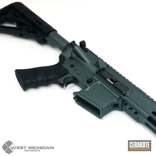 Cerakoted: SHOT,AR,Tactical Rifle,CHARCOAL GREEN H-338,Gun Coatings,Firearms,AR-15