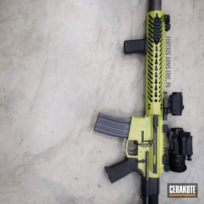 Cerakoted: S.H.O.T,Rifle,Fortius Arms,AR,MOJITO H-313,#suppressed,Tactical Rifle,.300 Blackout