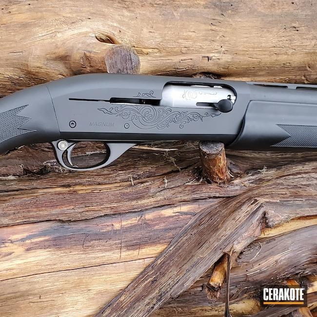 Cerakoted: SHOT,Shotgun,Graphite Black H-146,12 Gauge,Remington,Remington 1100,Complete Restoration