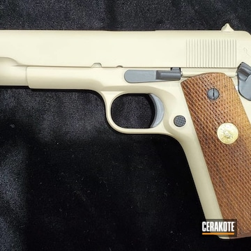 Cerakoted 1911 .45 Acp Handgun In H-146 And H-199