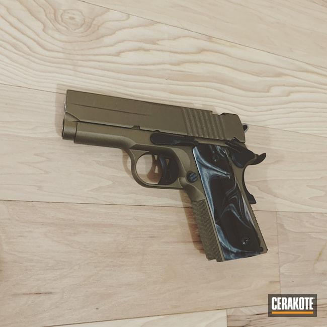 Cerakoted: SHOT,Burnt Bronze H-148,Armor Black H-190,Pistol,Sig Sauer,1911,Ultra Carry