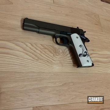 Cerakoted Black And Bronze Colt 1911