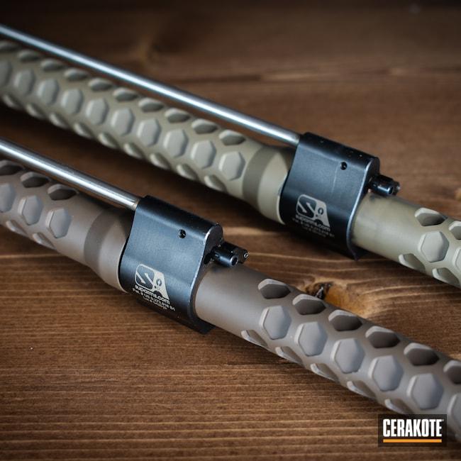 Cerakoted: Rifle,SHOT,MAGPUL® FLAT DARK EARTH H-267,Columbia River Arms,AR,Barrel,.243,.308,Chocolate Brown H-258