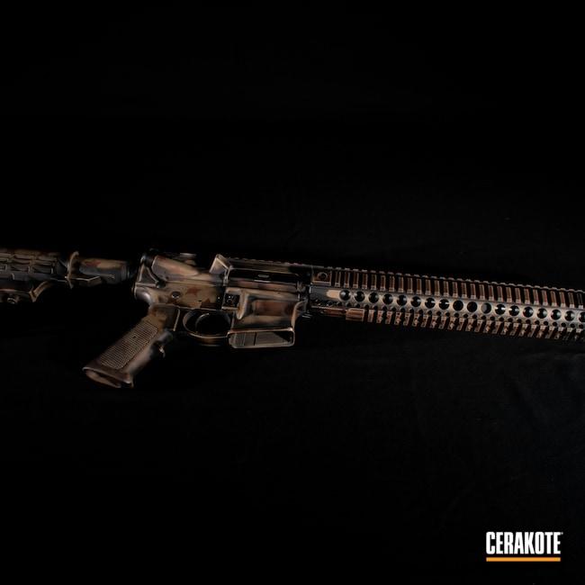 Cerakoted: S.H.O.T,Flag,FS BROWN SAND H-30372,Battleworn,Graphite Black H-146,AR,Smith & Wesson,9mm Carbine,Federal Brown H-212,America,5.56