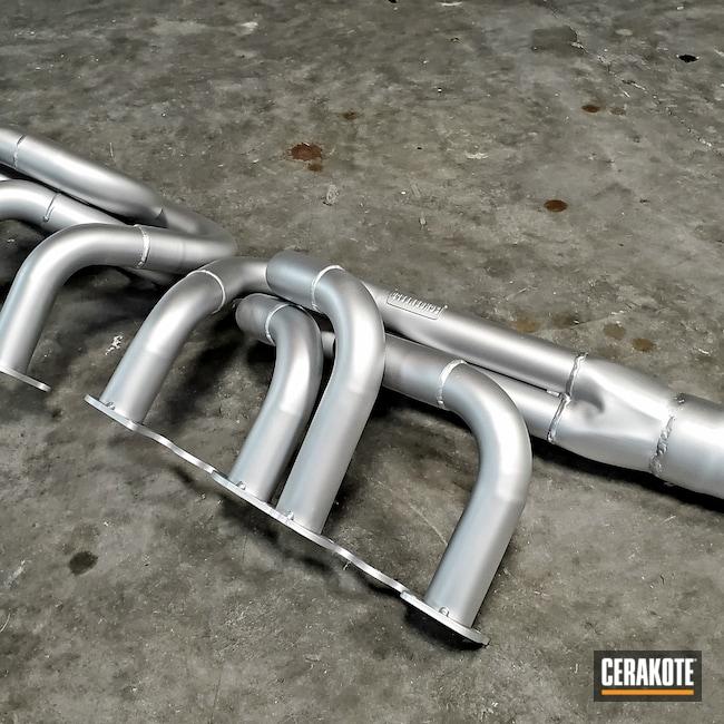 Cerakoted: Schoenfeld,Sprint Car,Exhaust,Headers,Automotive,V8,CERAKOTE GLACIER SILVER C-7700,Race Car