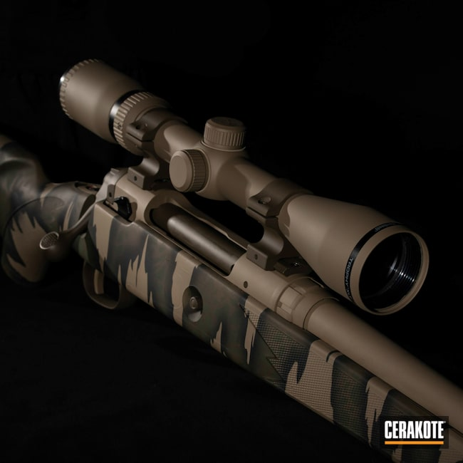 Cerakoted: Rifle,Bolt Action Rifle,MAGPUL® FLAT DARK EARTH H-267,Bolt Action,Savage,Firearms,SHOT,Hunting,Highland Green H-200,Graphite Black H-146,Firearm,Model 111,Chocolate Brown H-258