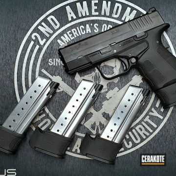 Cerakoted Black Springfield Xd Handgun