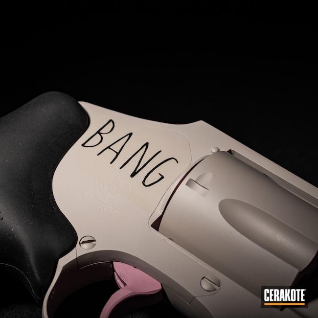 Cerakoted: Hidden White H-242,SHOT,38 Special,Smith & Wesson,Revolver,Firearm,Pistol,Prison Pink H-141,Firearms,EDC,Smith & Wesson 442