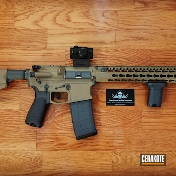 Cerakoted Fde And Grey Tactical Rifle