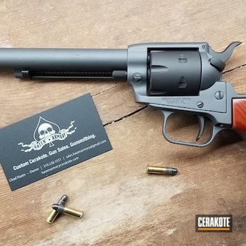 Cerakoted Grey And Black .22lr Revolver