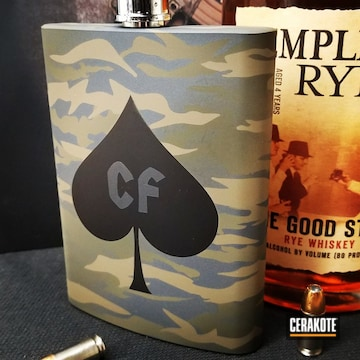 Cerakoted Multicam Hip Flask