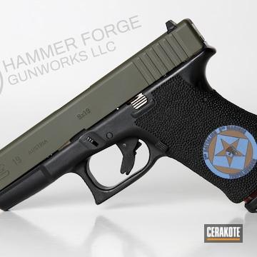 Cerakoted Laser Engraved Glock 19