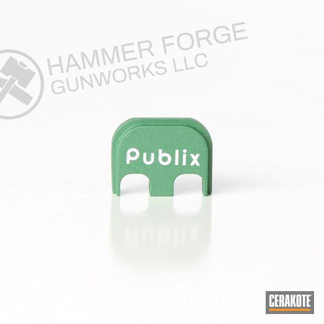 Cerakoted Green Aluminum Glock Backplate