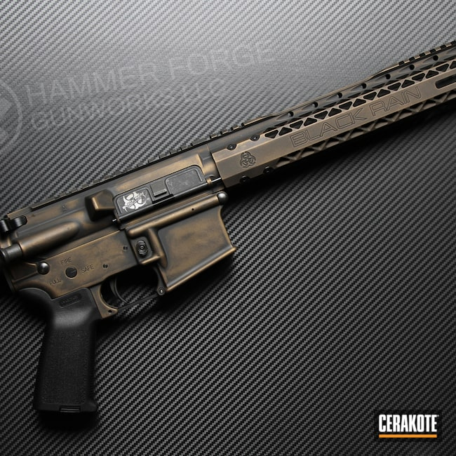 Cerakoted: S.H.O.T,Spartan,Battleworn,Battleforged,Graphite Black H-146,AR,Burnt Bronze H-148,Tactical Rifle,Black Rain