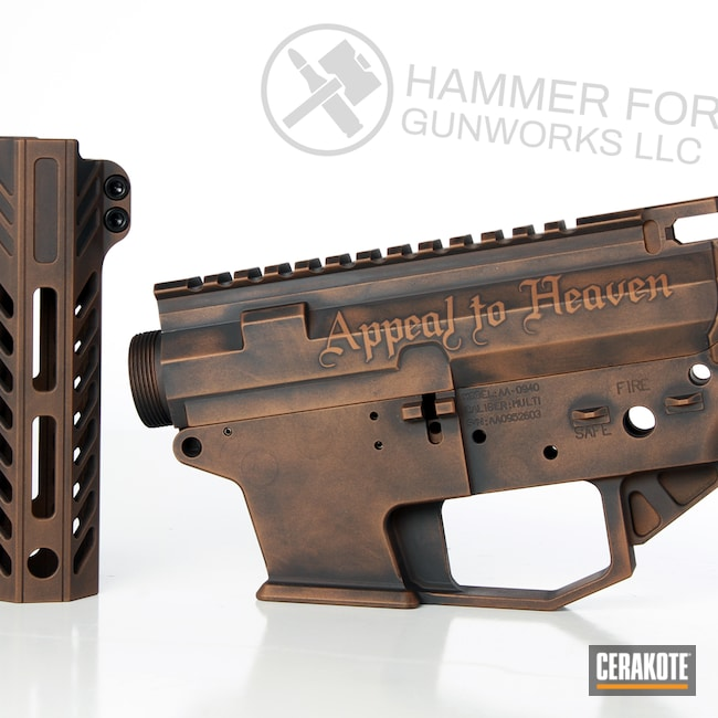 Cerakoted: SHOT,9mm,Angstadt Arms,AR Pistol,COPPER SUEDE H-310,Graphite Black H-146,Burnt Bronze H-148,Tactical Rifle,9mm AR pistol,AR-15