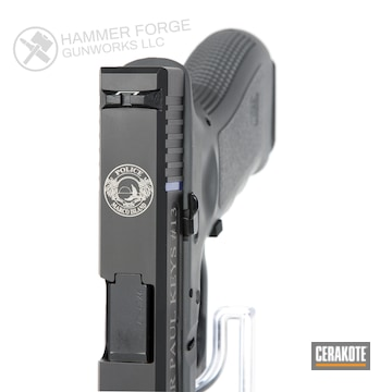 Cerakoted Glock 17 Thin Blue Line