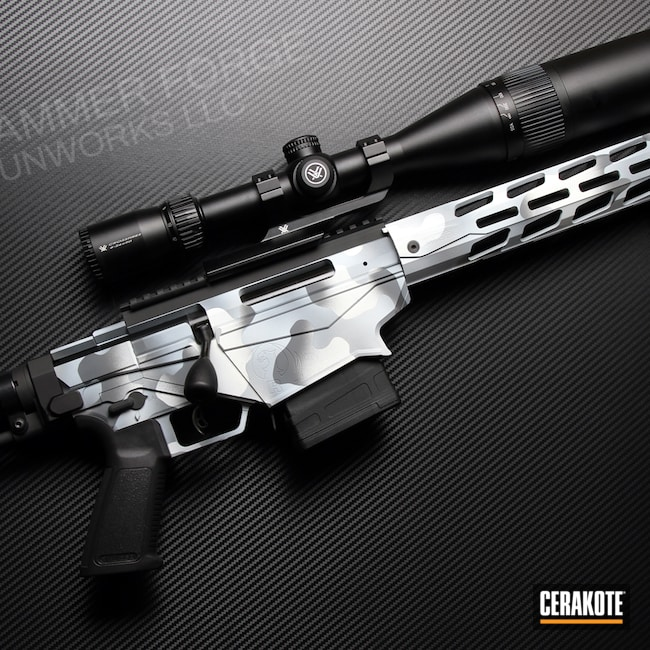 Cerakoted: SHOT,Rifle,Bolt Action Rifle,SPRINGFIELD® GREY H-304,Ruger,MultiCam,Ruger Precision 6.5,Snow White H-136,Graphite Black H-146,Ruger RPR,Snow Camo