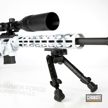Cerakoted Snow Camo Ruger Precision 6.5 Rifle