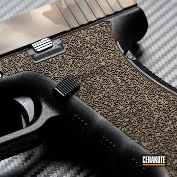 Cerakoted Arid Multicam Laser Stippled Glock 21