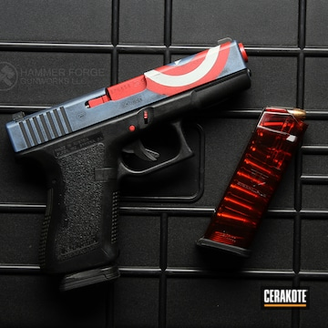Cerakoted Captain America Themed Glock