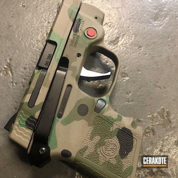Cerakoted Multicam S&w .380 Handgun