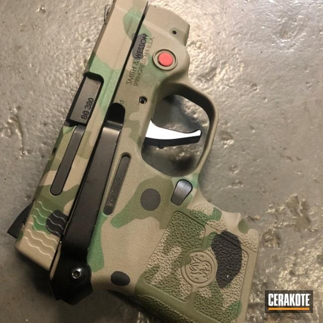 Cerakoted Multicam S&w .380 Handgun