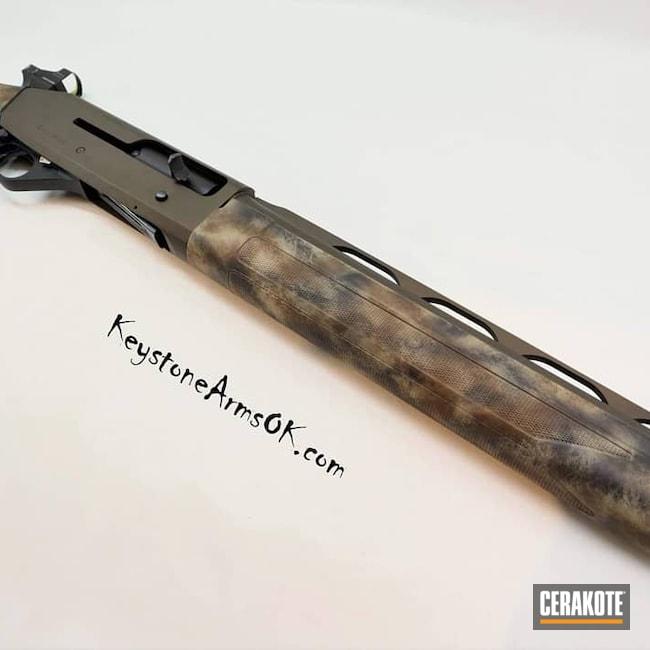 Cerakoted: SHOT,Hunting,Desert Sage H-247,Shotgun,Graphite Black H-146,Firearm,Camo,12 Gauge,Stoger,Freehand,Midnight Bronze H-294,turkey