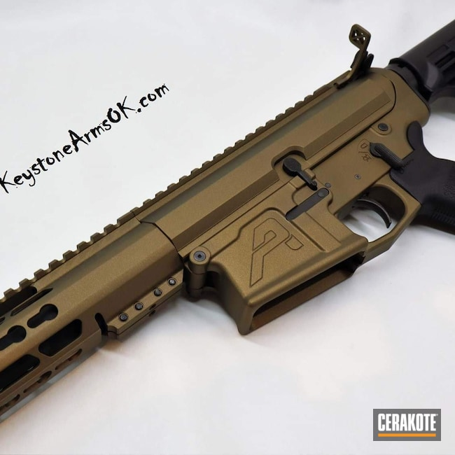 Cerakoted: Aero Precision,Rifle,AR-10,Burnt Bronze H-148,Tactical Rifle