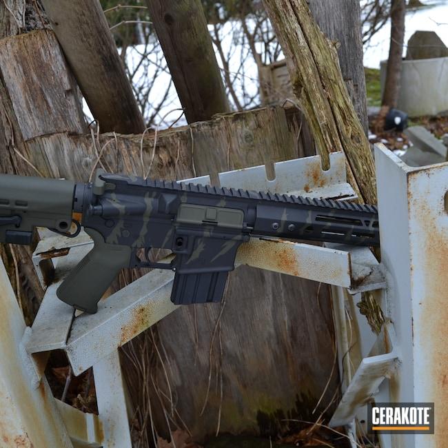 Cerakoted: SHOT,Aero Precision,Vietnam Tiger Stripe Camo,Tiger Stripes,Custom,AR,Armor Black H-190,Tactical Rifle,O.D. Green H-236,AR-15