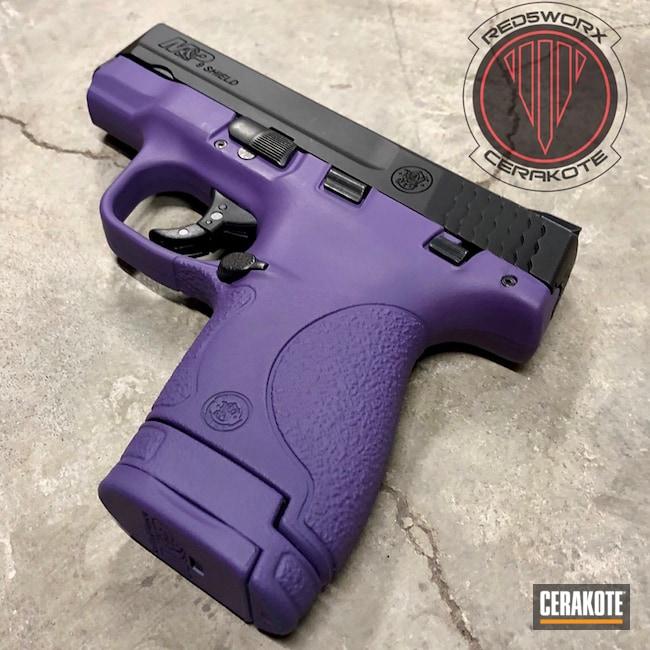Cerakoted: SHOT,Bright Purple H-217,Two Tone,Smith & Wesson,Pistol
