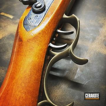 Cerakoted Bronze Refinished Flintlock Rifle