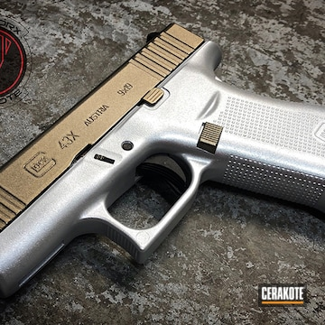 Cerakoted Glock 43x In H-242 And H-146