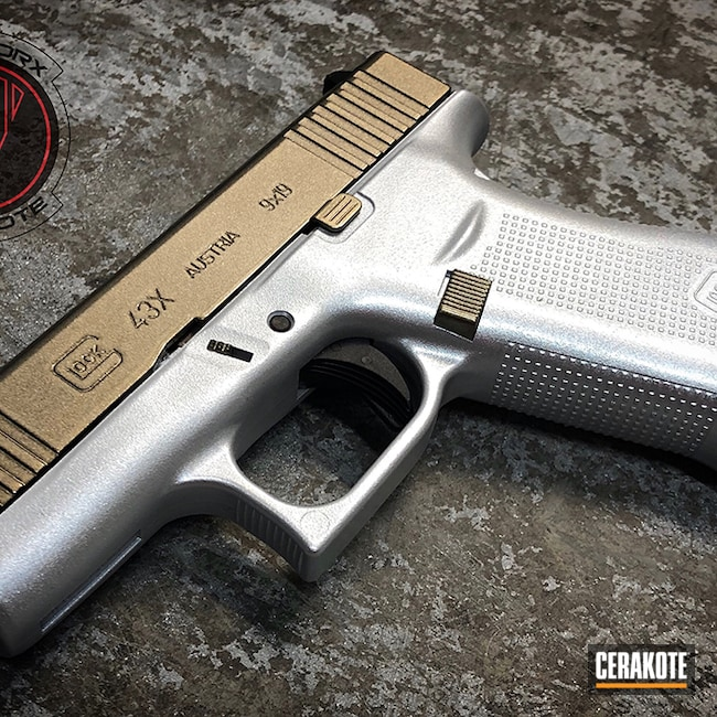 Cerakoted: Hidden White H-242,SHOT,Glock 43X,Graphite Black H-146,Pistol,Glock,43x,GunCandy