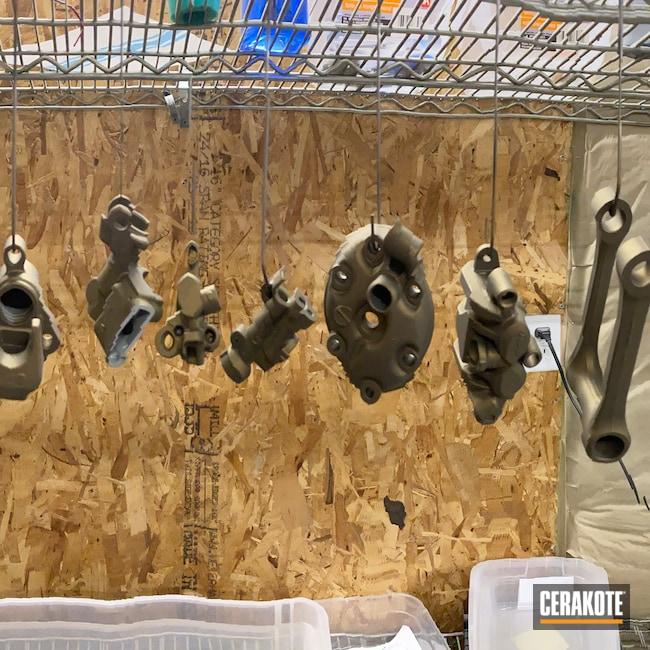 Cerakoted: Motorcycles,Burnt Bronze C-148,Engine,Automotive