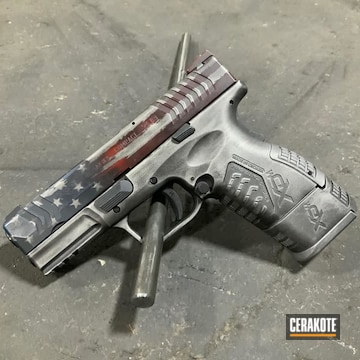 Cerakoted Distressed American Flag Springfield Xdm