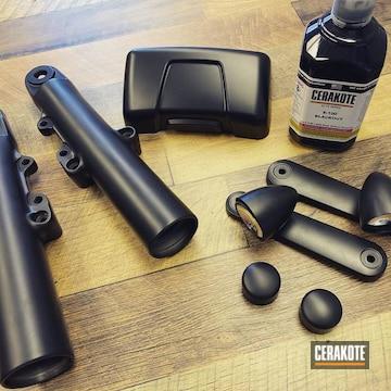 Cerakoted Black Custom Harley Parts