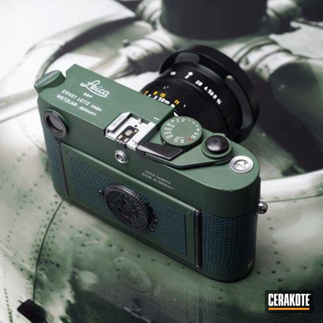 Cerakoted: Camera,Highland Green H-200,Lifestyle,Leica,Refinished,More Than Guns