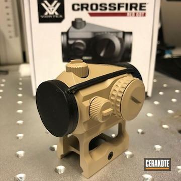 Cerakoted Sand Vortex Crossfire Red Dot