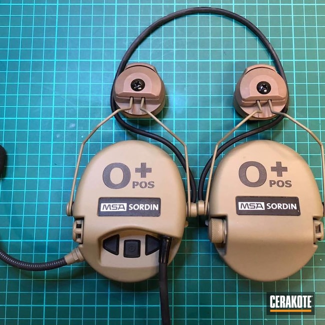 Cerakoted: SHOT,Sordin,MSA,Coyote Tan C-240,Electronics,Ear Pro