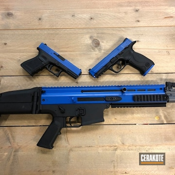 Cerakoted Blue Set Of Airsoft Firearms