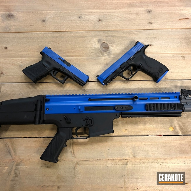 Cerakoted: S.H.O.T,NRA Blue H-171,Airsoft,Police,Training Weapon