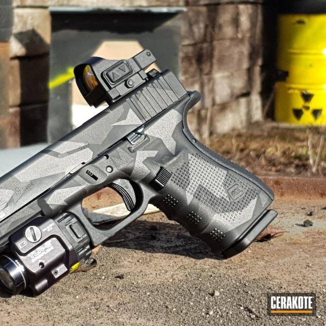 Cerakoted: SHOT,Glock 19,Tungsten H-237,Armor Black H-190,Glock,Urban Camo,Cobalt H-112